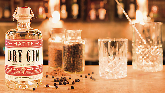 Gin der Matte-Brennerei